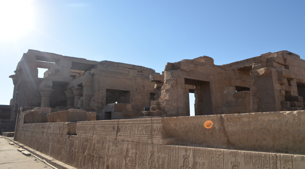 View of Kom Ombo temple.