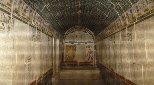 Hathor Headed columns of the temple.