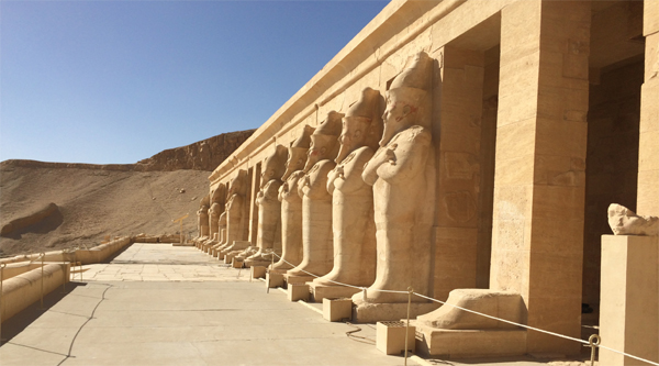 Birth colonnade in the temple of Hatshepsut