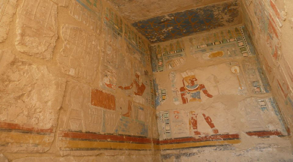 Wall decorations in the temple.