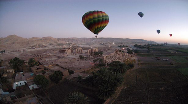 Hot-air balloon ride over Luxor