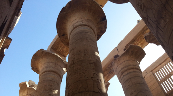 Hypostyle hall in Karnak temple, Luxor