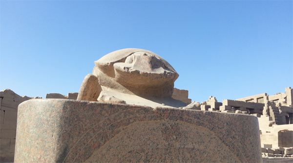 Statue of a scarab in Karnak temple