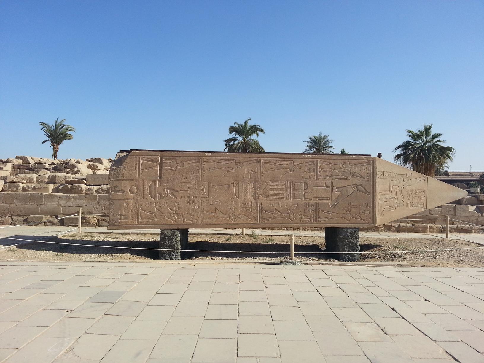 Visit Karnak Temple the broken obelisk during the tour to Luxor from Sharm El Sheikh