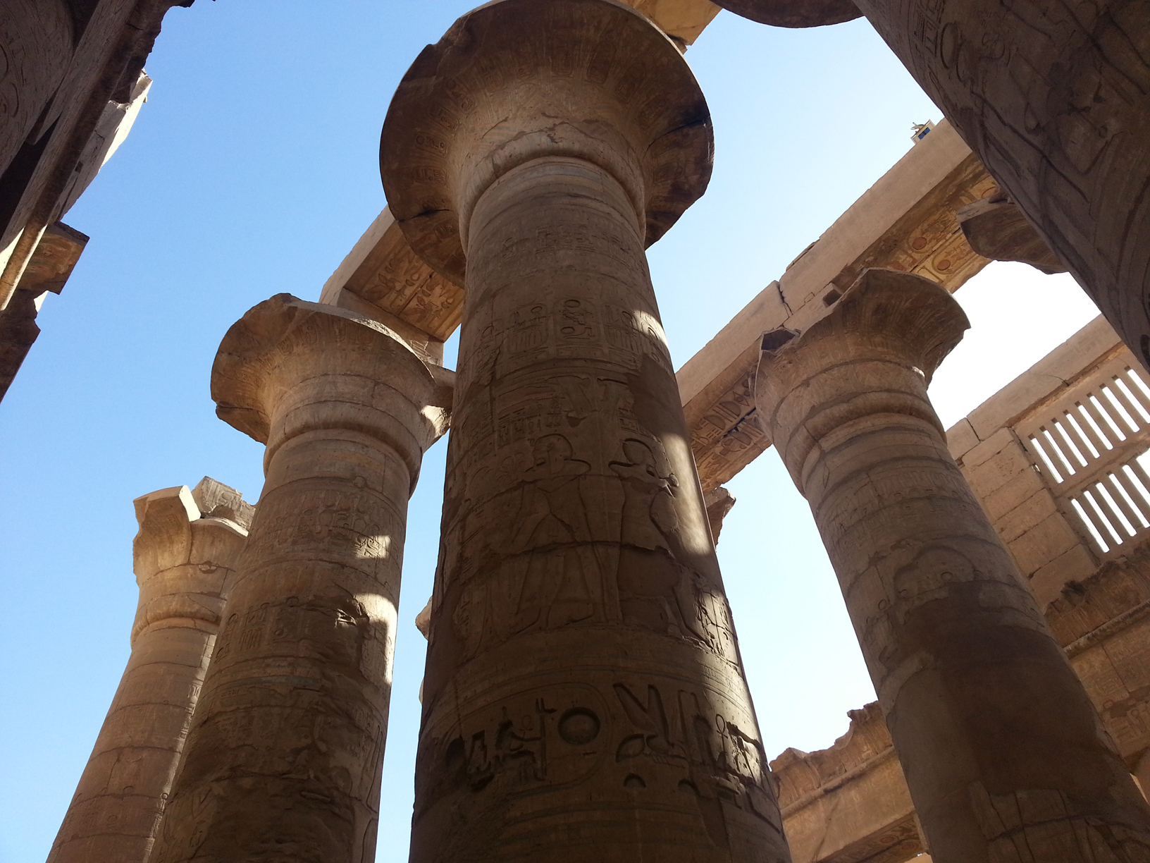 Great Hypostyle hall inside Karnak temple.