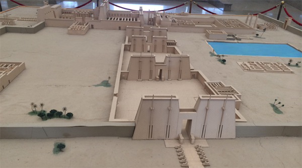 Karnak temple in miniature