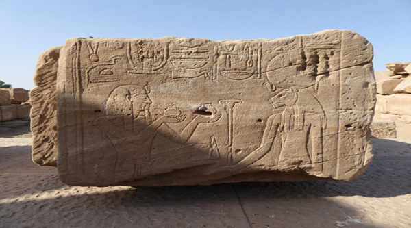 Relief on display at Karnak temple
