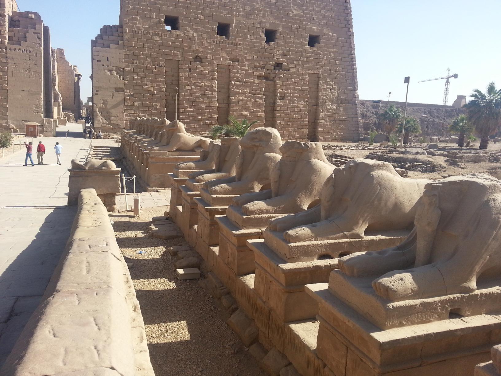 Rams alley in Karnak temple