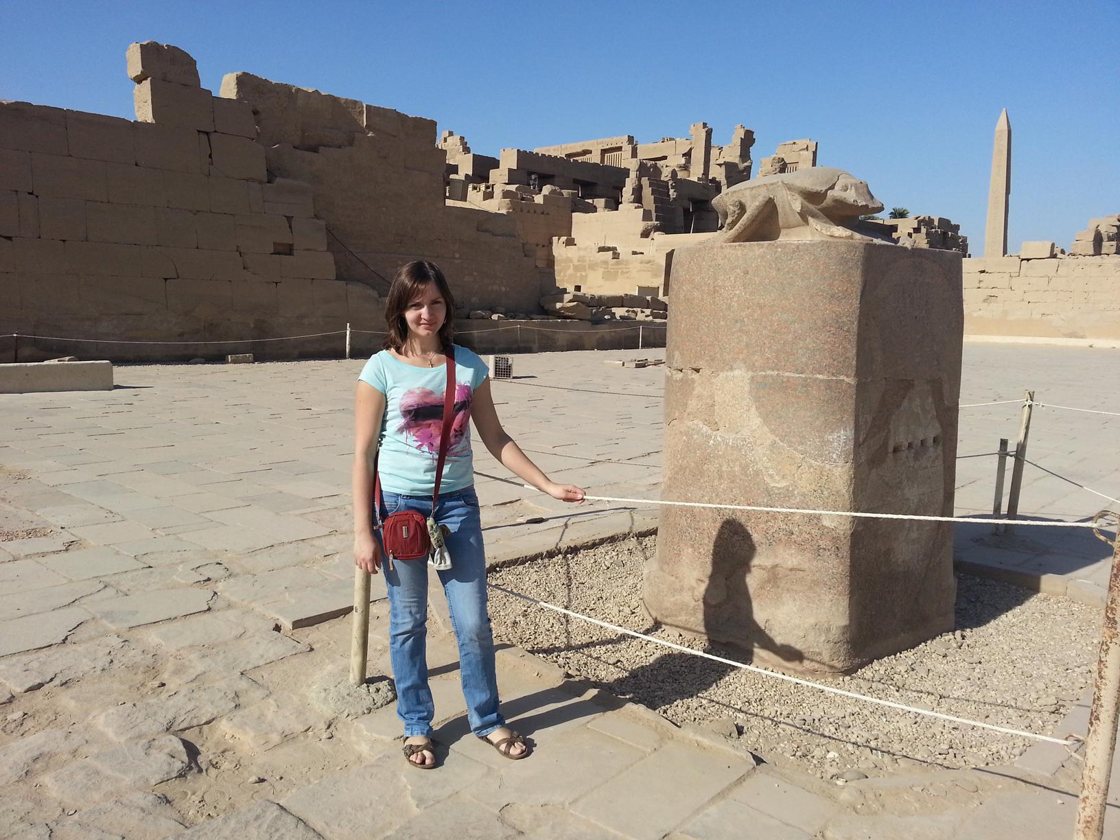 Scarabeo nel tempio di Karnak