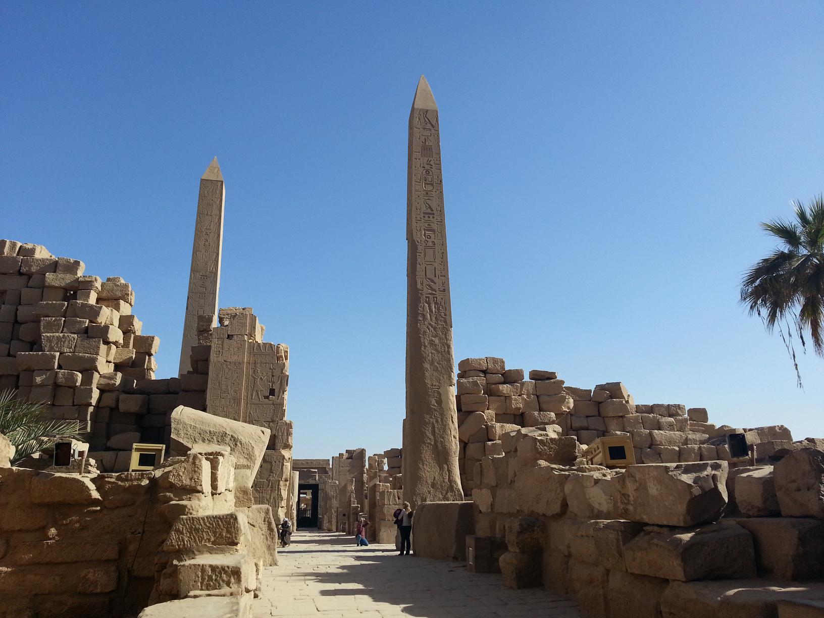 Karnak temple stelaes