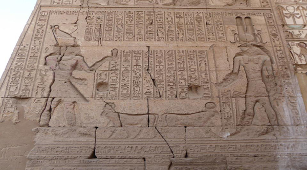 Karnak temple wall decoration.