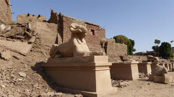 Statue of a Ram at Karnak temple, Luxor