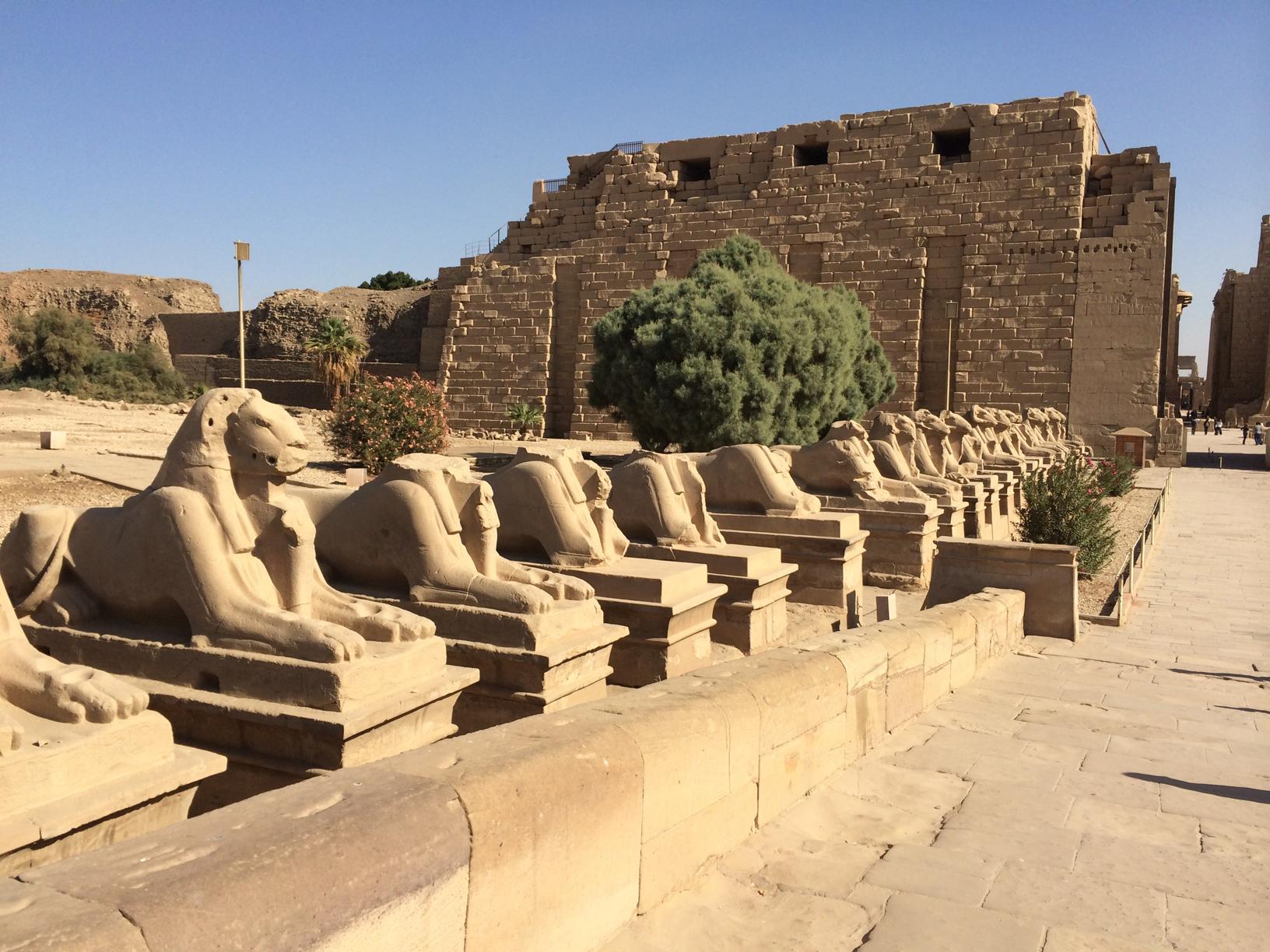 Sphinx avenue at Karnak