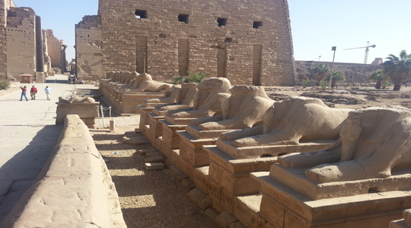 Rams alley to the right side of Karnak temple entrance