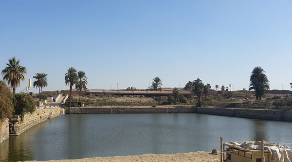 Sacred lake at Karnak temple