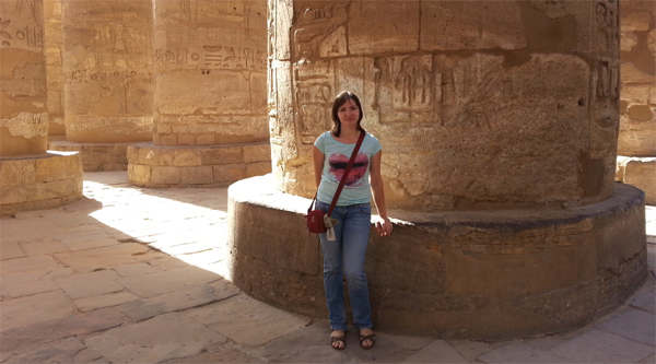 At the Karnak temple Hypostyle hall