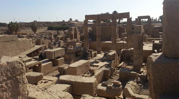 Ruins of a temple inside Karnak.