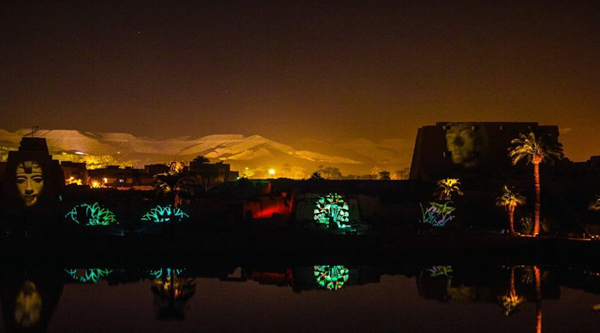 Sound & Light show at Karnak temple.