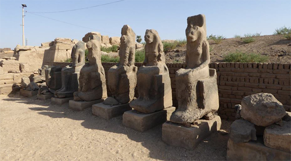 Statues of Sehmet at Karnak temple.