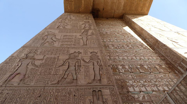 Karnak temple wall relief.