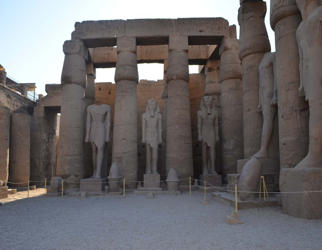 Colonnade in Luxor temple