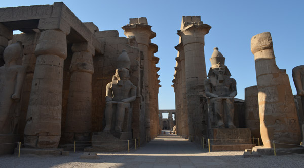 The main colossi of Luxor temple.