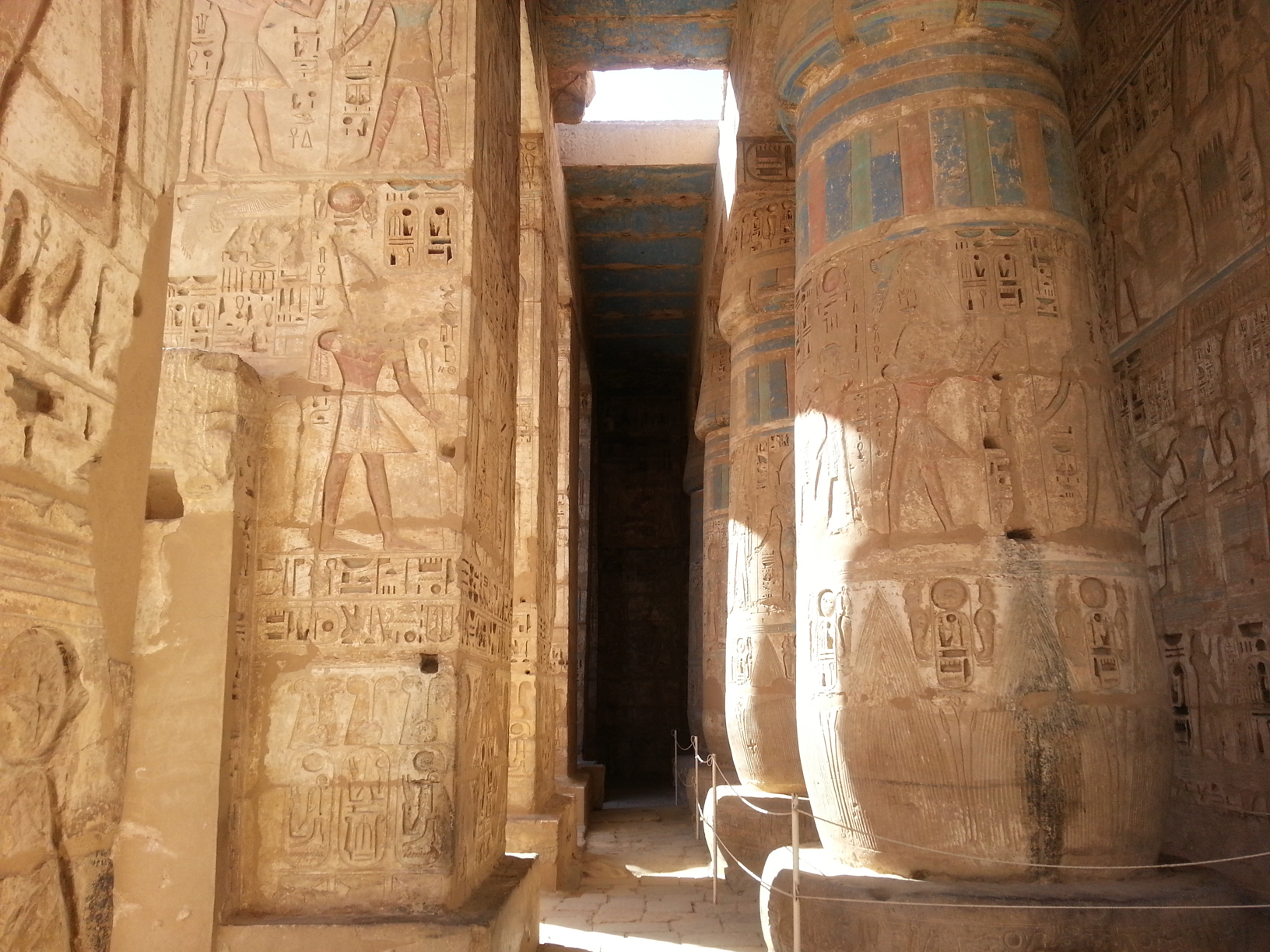 The main colossi of Luxor temple.