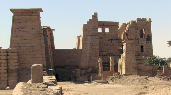 View of Medinet Habu temple.