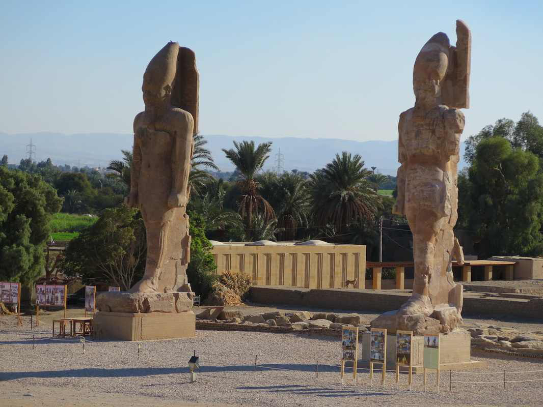 Newly erected colossi of Memnon