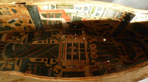 Decoration of the inner part of a sarcophagus.