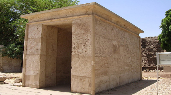 Alabaster chapel in the Open Air Museum, Karnak