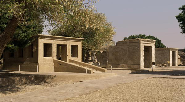 Chapels at Karnak Open Air Museum.