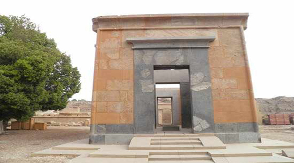 Red chapel at Karnak Open Air Museum