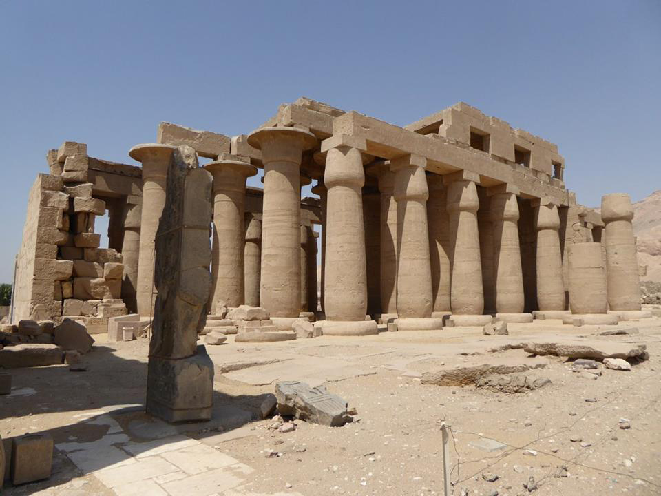 Colonnade in the temple of Ramses II