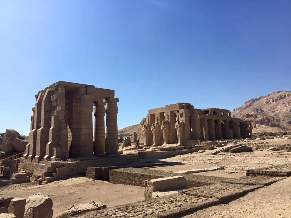 Excursion to the Rameseum, Eastern bank of Luxor