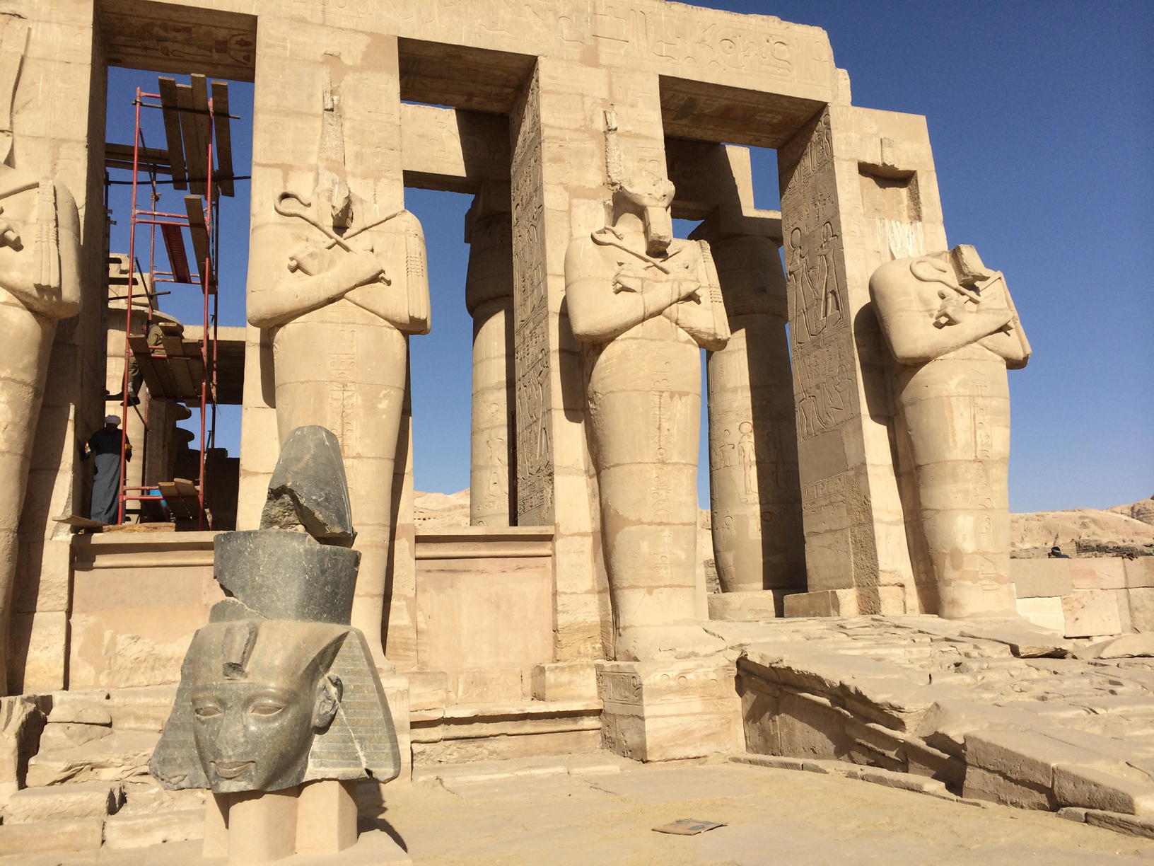 Sphinxes avenue in Luxor temple premises.