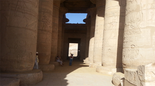 Ramesseum temple of the Ramses the 2nd