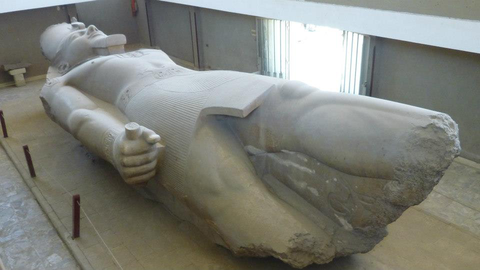 Statue of Ramses II in ancient Memphis