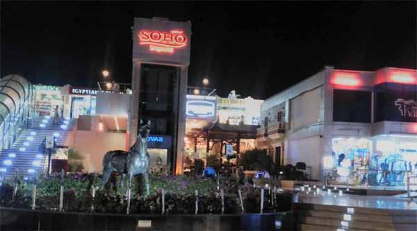 At Soho square in Sharm el Sheikh.