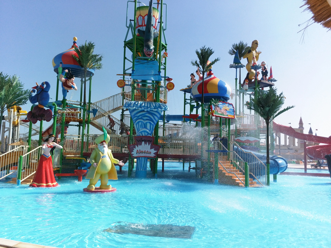 Kids area in Sharm el Sheikh aqua-park