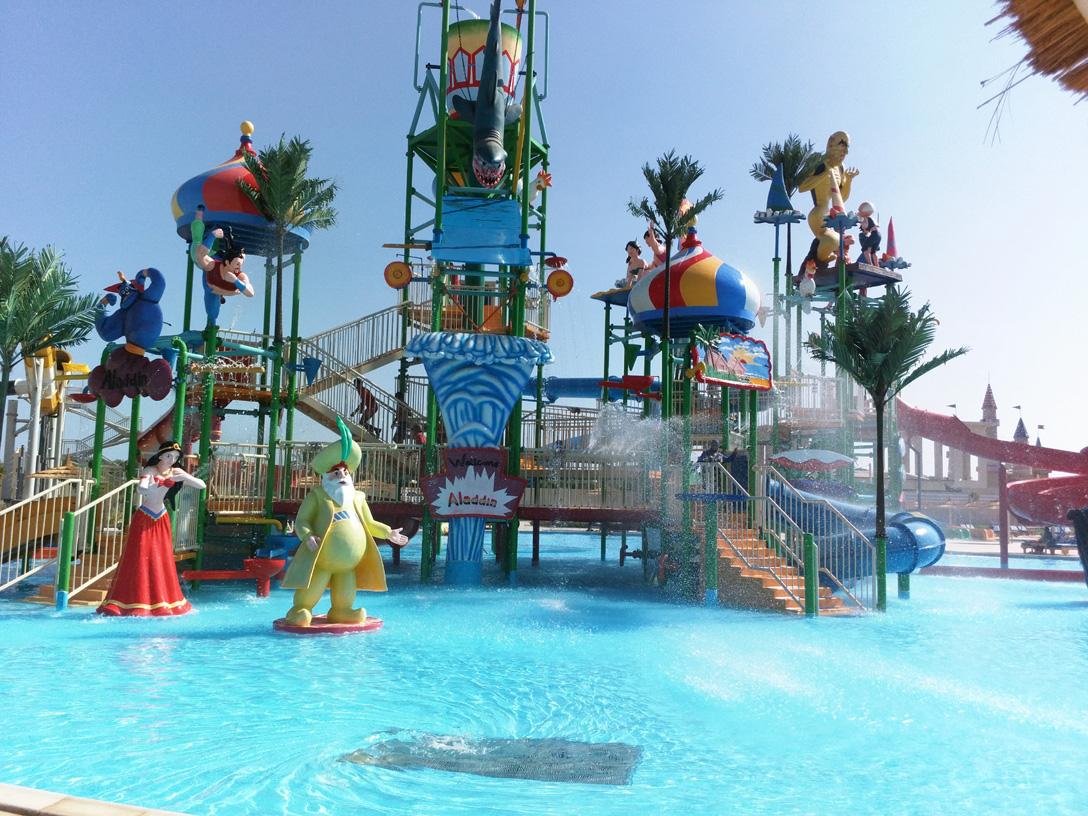 Area per bambini nel parco acquatico di Sharm el Sheikh