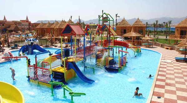 Overview of kids area in the aqua-park