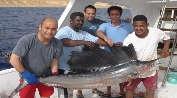 Отличная рыбалка в Красном море