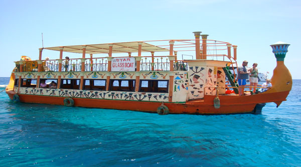 Glass bottom boat excursion from Naama bay