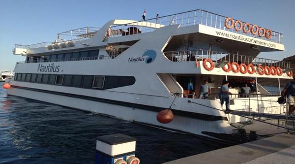 Sea cruise on luxury Nautilus boat