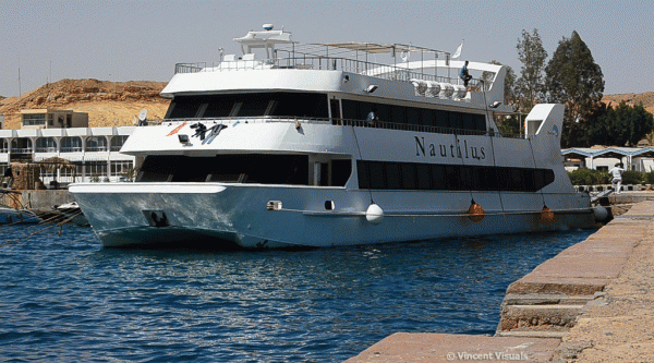 Luxury sea cruise on Nautilus catamaran in Sharm el Sheikh.