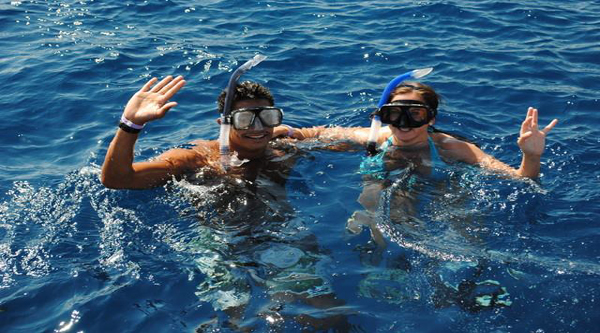 Snorkeling in the Red sea all year round.