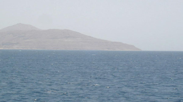 View on Tiran Island from Sharm el Sheikh.