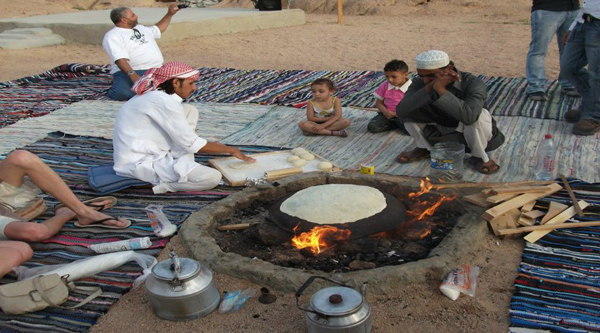 Bread making activity at Bedouins