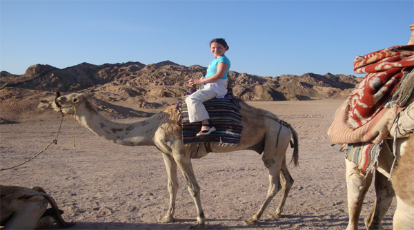 Camel riding activity on Mega safari excursion